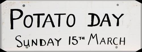 potato day signage