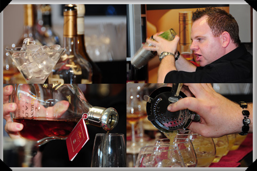 Alan mixes the Hennessy cognac cocktails