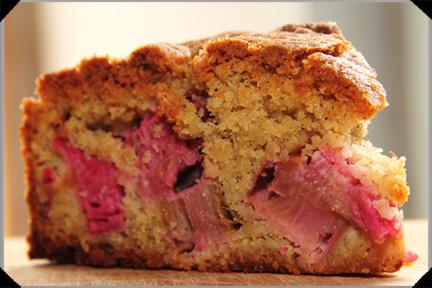 Rhubarb cinnamon torte