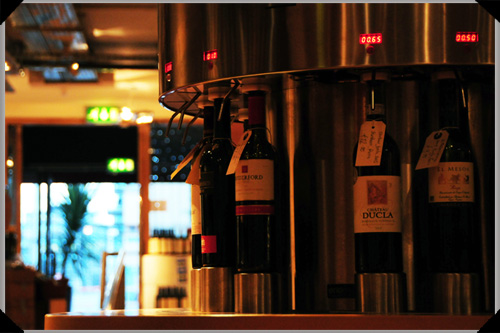 Part of the Enomatic wine sampling system