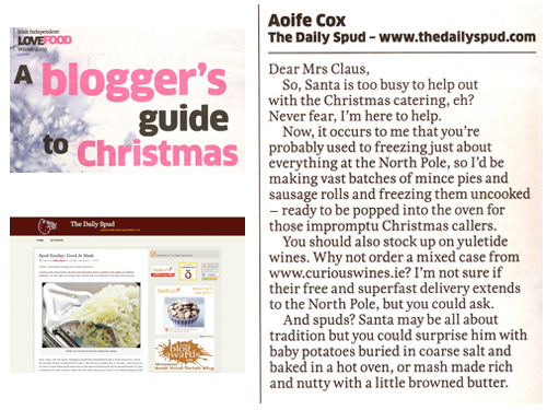 Irish Independent Love Food Magazine, 8th December 2009