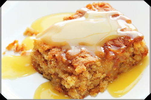 Apple Pudding With Hot Whiskey Sauce