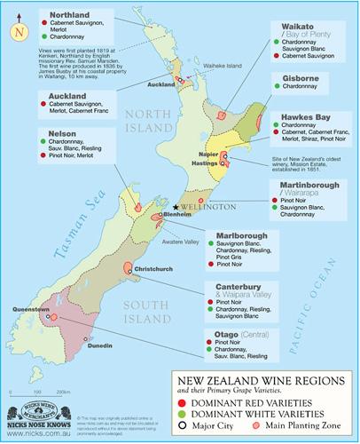 New Zealand Wine Map