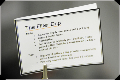 Drip Filter Instructions
