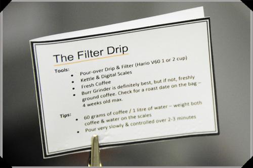 Drip Filter Instructions