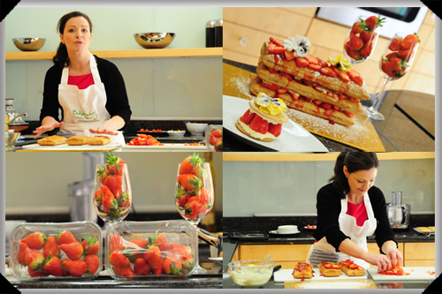 Catherine Fulvio cooks with strawberries