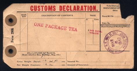 Customs Declaration Front