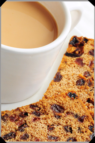 Tea and boiled fruit cake