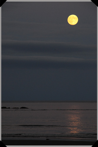 Moon over Inchydoney Strand