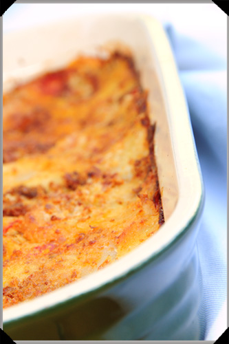 Potato and tomato bake