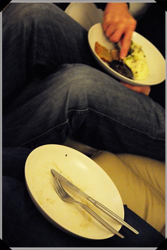 Dinner in lap