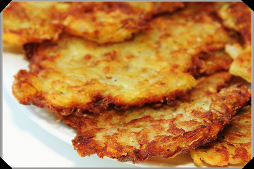 latke / kartoffelpuffer / potato pancake kind of thing