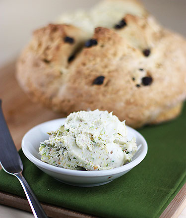 Soda bread and pistachio butter