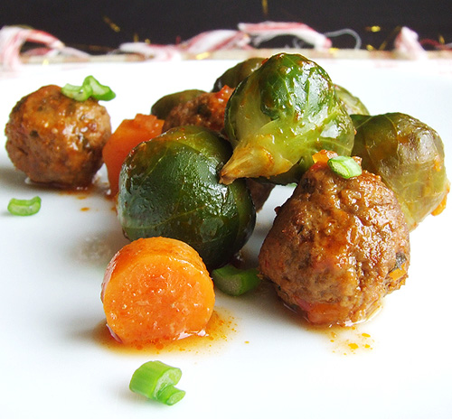 Brussels Sprouts with Meatballs