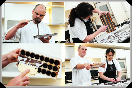 Moulding chocolates