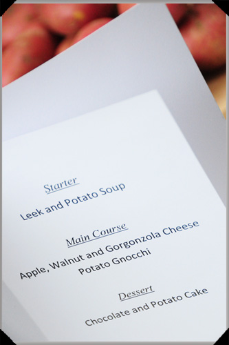Potato menu