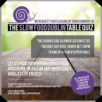 Slow Food Dublin Culinary Quiz