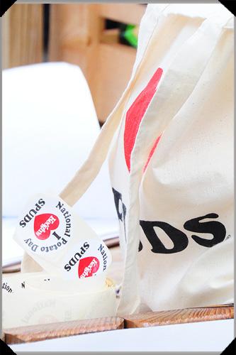Spud bag and badges