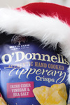 O'Donnells salt and vinegar crisps santa hat