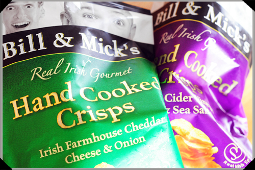 Bill and Mick and their gourmet crisps