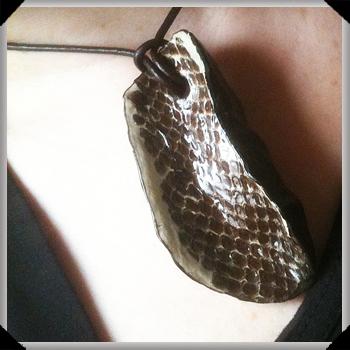 potato snake skin pendant