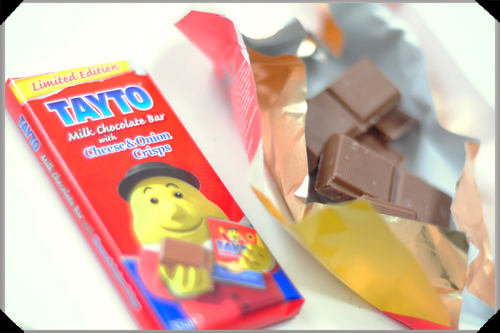Tayto cheese and onion chocolate