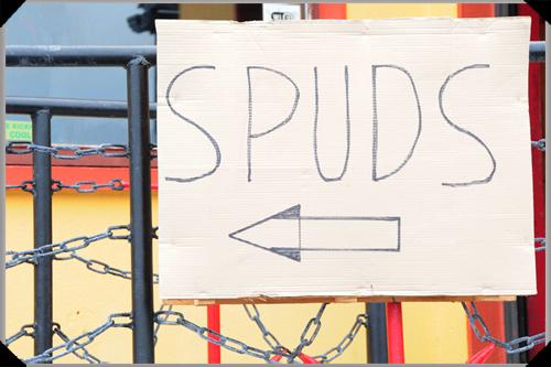 Spuds sign