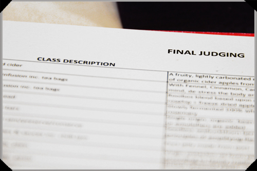 Great Taste finals judging sheet