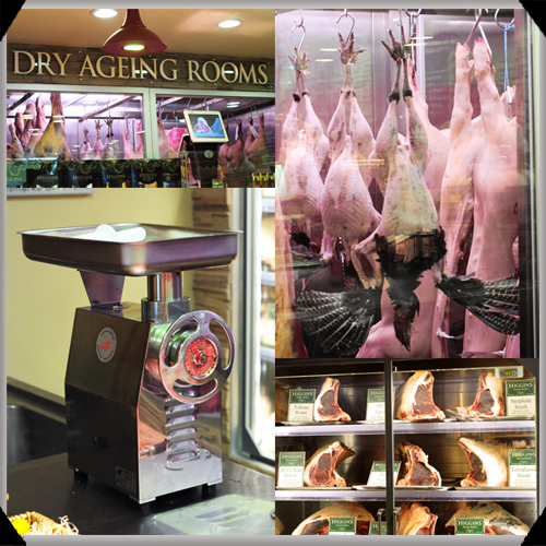 Dry aging at Higgins Butchers