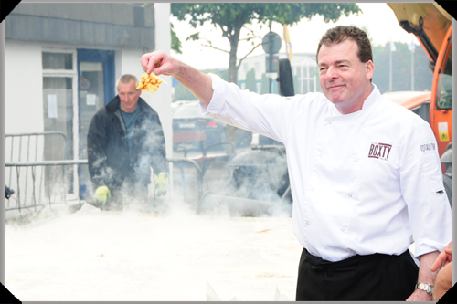 Padraic Og Gallagher displays cooked boxty