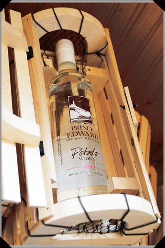 Potato vodka in a lobster trap