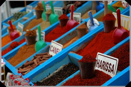 Harissa and assorted other Tunisian spices