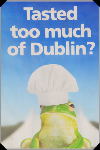 Clever post-event advertising at Taste of Dublin by a certain purveyor of digestive remedies