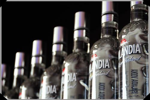 Finlandia vodka, lots of