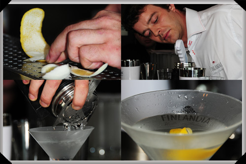 Mike from the Soul Shakers makes martini