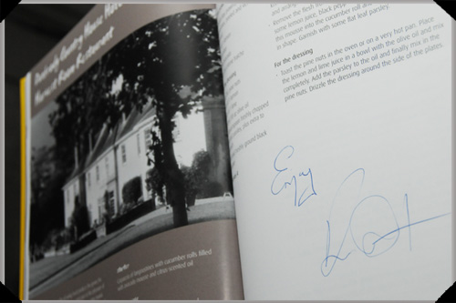 Zest! cookbook, as signed by Kevin Dundon