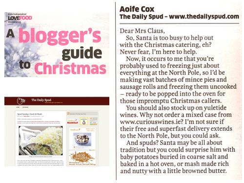 Irish Independent Love Food Magazine, 8th December 2009