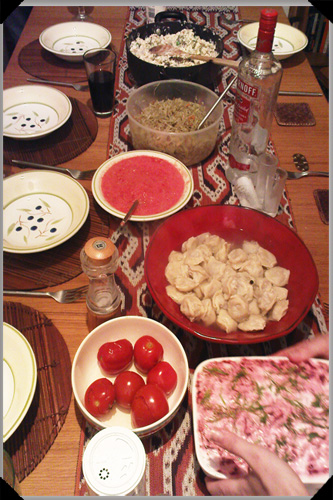 Russian New Years Eve Meal