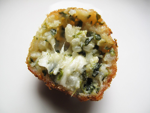 Arancini with Spinach