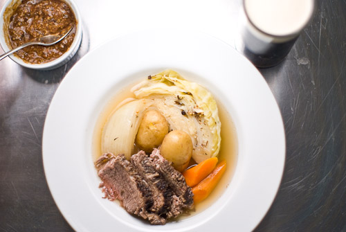 Corned Beef in Stout with Mustard Chutney
