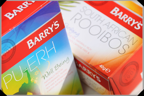 Pu-erh and rooibos teas from Barry's