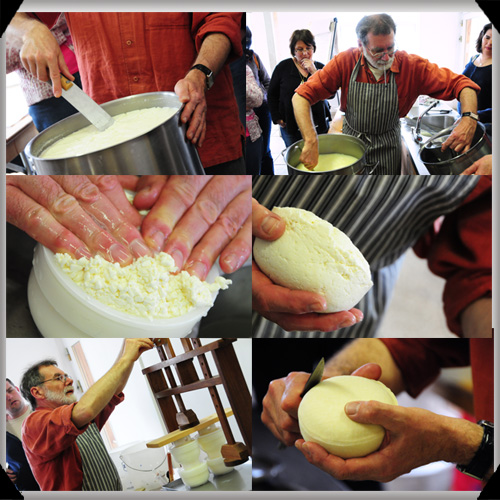 Making pressed cheese