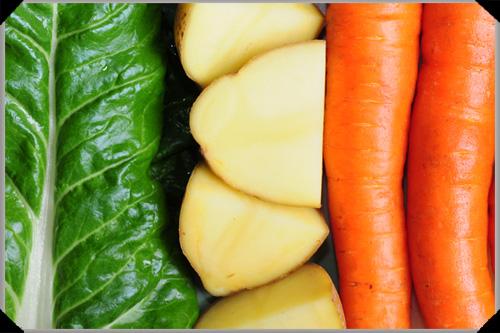 Swiss Chard, Potatoes and Carrots