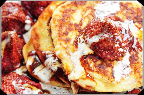 Potato Pancakes With Roasted Strawberries