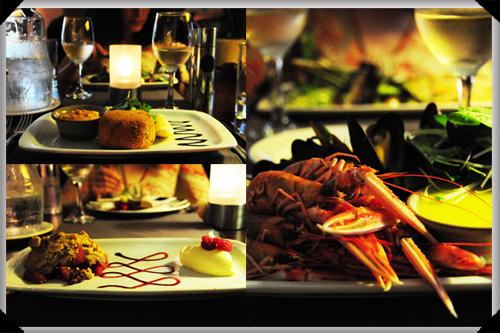 Dinner at Brambles Seafood And Grill, Auchrannie Resort
