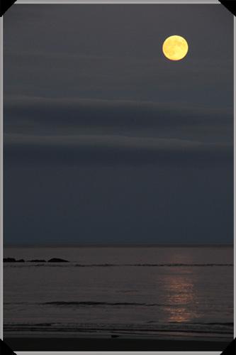 Moon over Inchydoney Strand