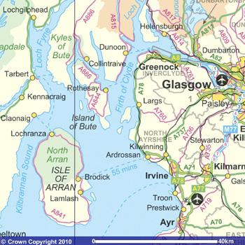 Ordnance survey map of Arran