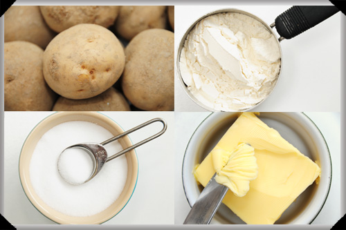 Boiled boxty ingredients