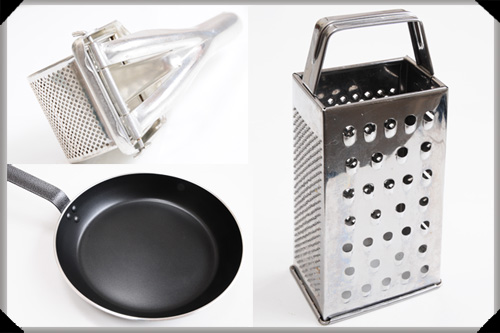 Boiled boxty utensils