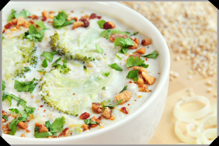 Oatmeal and coconut soup